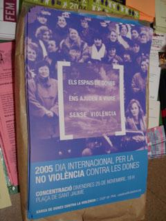 Concentració 25 de novembre, 19h Plaça Sant Jaume