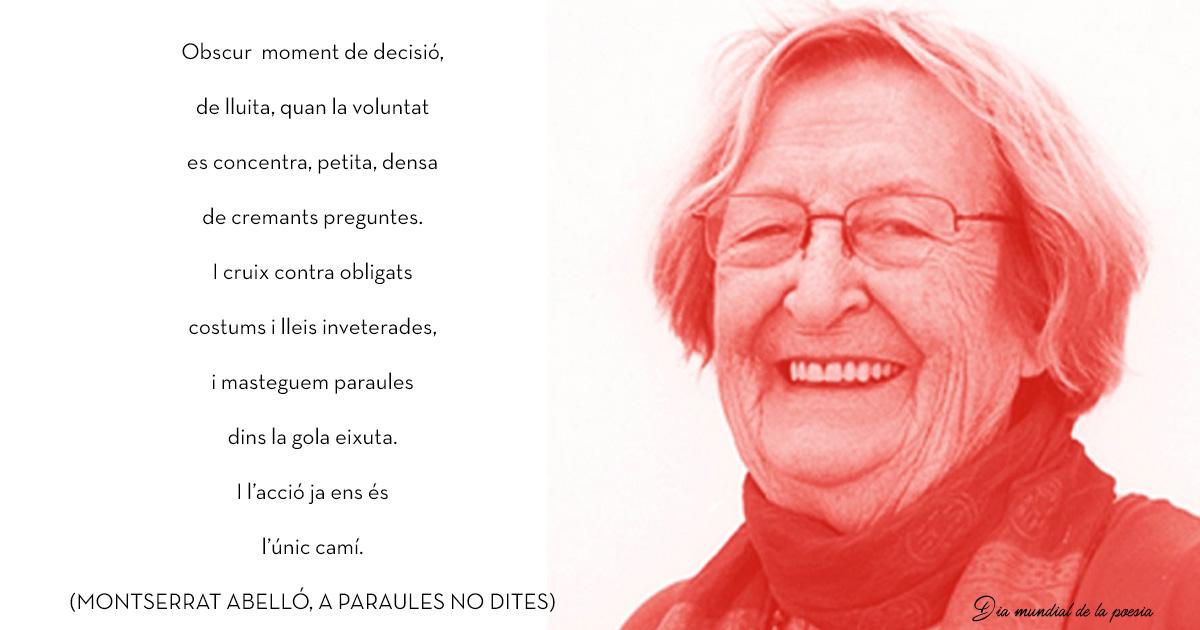 21 d'abril, dia mundial de la poesía, recordem a Montserrat Abelló