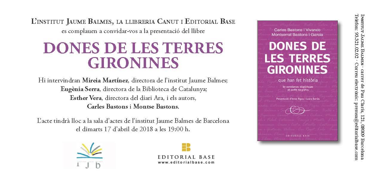 17/04:. [PRESENTACIÓ] Dones de les terres gironires que han fet història