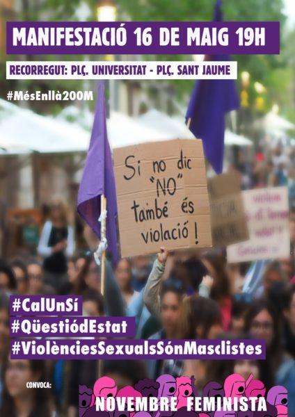 16/05::. MANIFEST de Novembre Feminista per la manifestació del 16 maig #CalUnSí