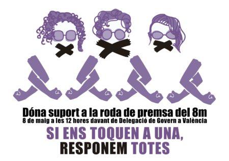 [CONCENTRACIÓ 8/05]: DÓNA SUPORT a la Roda de Premsa: REPRESSIÓ cap al Moviment Feminista 8M València
