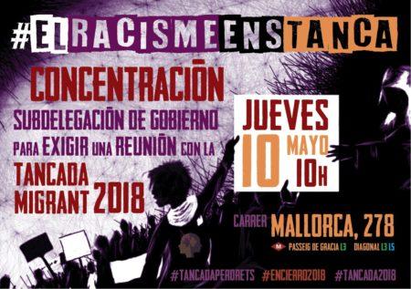 [CONCENTRACIÓ 10/05]: El racisme ens tanca