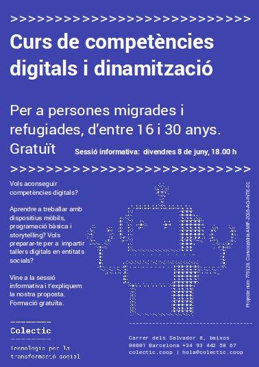08/06::. [Sessió informativa] Curs gratuït de competències digitals i dinamització, adreçada a persones migrades