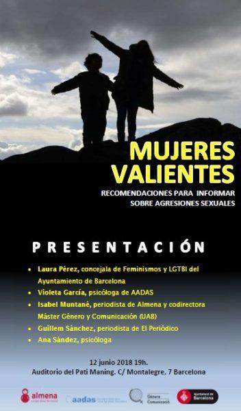 12/06::. Mujeres Valientes- Recomendaciones para informar sobre agressiones sexuales