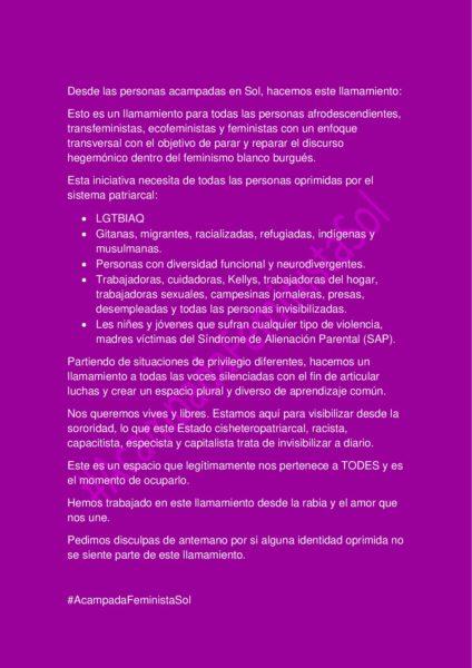 [CRIDA] de l'#AcampadaFeministaSol (Madrid)