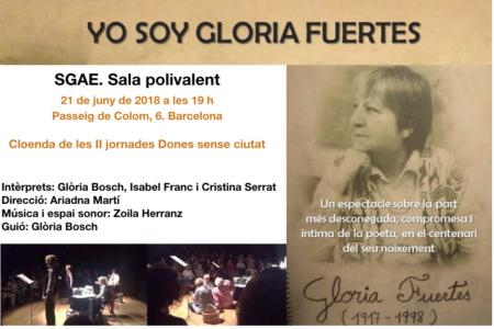 21/06::. Yo soy Gloria Fuertes- homenatge a la poeta amb recital i música en directe.