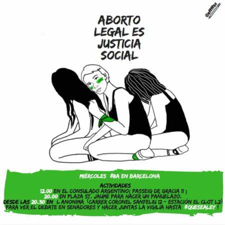 08/08::. Concentraciones del 8 de agosto en Barcelona por el Aborto legal en Argentina