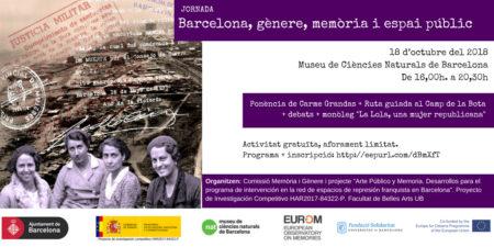 18/10::. Jornada 'Barcelona, gènere, memòria i espai públic'