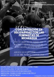 18/10::. Concentración en solidaridad con las feministas de Nicaragua.