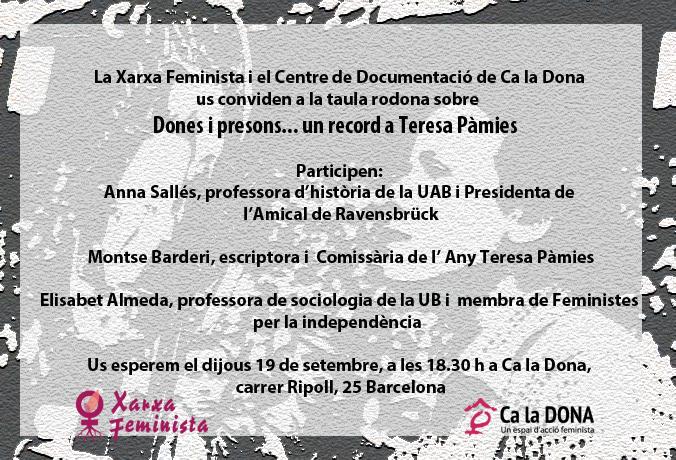 Dones i presons... un record a Teresa Pàmies