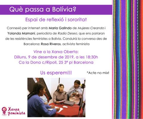 Què passa a Bolívia?