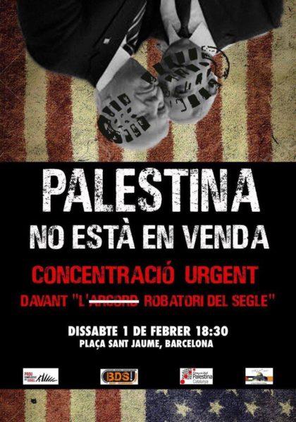 Concentració Palestina no està en venda