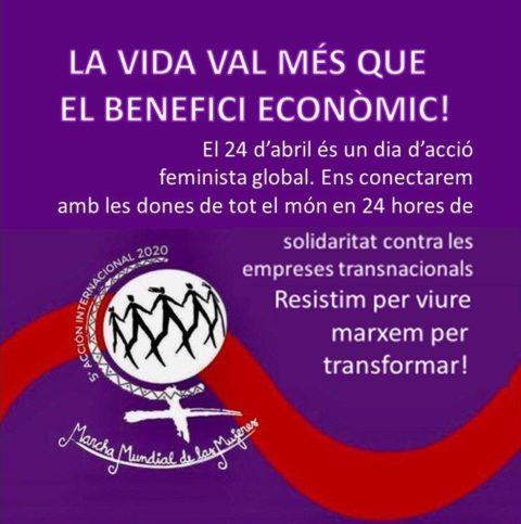 solidaritat feminista contra empreses transnacionals
