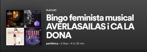 Ja teniu la llista del Bingo Musical Feminista