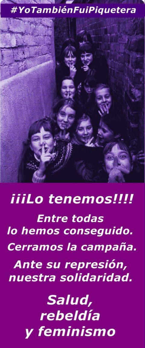 "Agraïments de les ""Piqueteras 8M Asturias"""