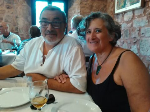 Cecilia con Jorge