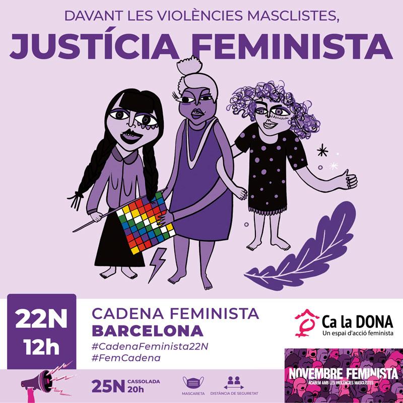#CadenaFeminista22N