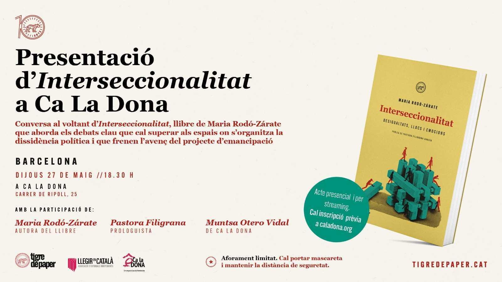 """Presentació del llibre """"Interseccionalitats"""" de Maria Rodó"""